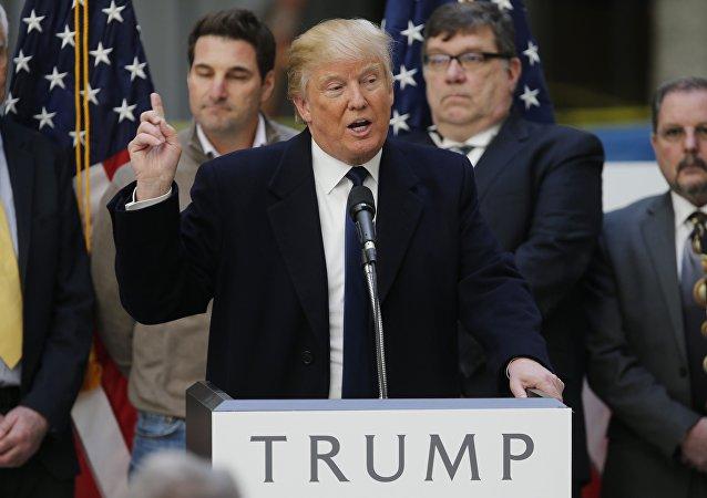 El precandidato a la presdiencia de EEUU, Donald Trump (Partido Republicano)