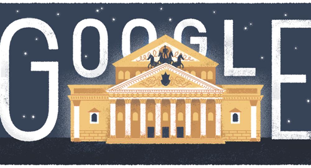 Doodle de Google dedicado al Teatro Bolshói