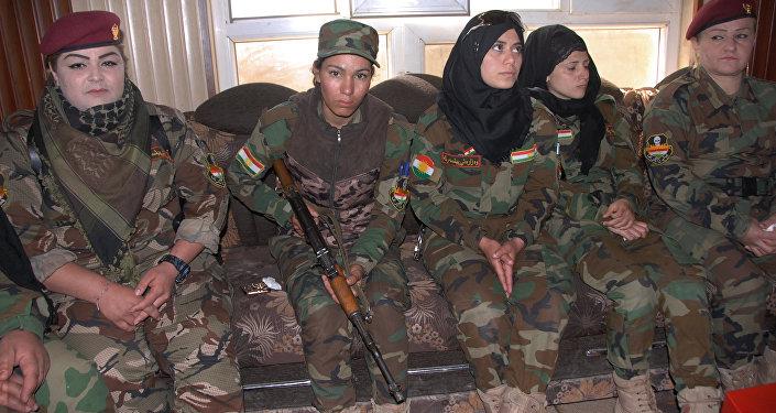 Batallón de mujeres peshmerga en Irak