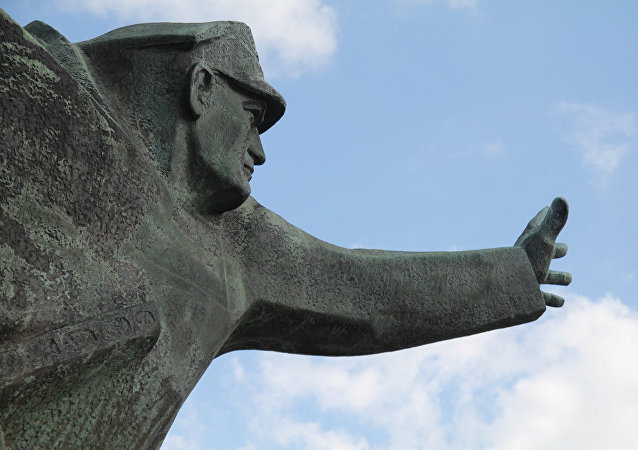 Un monumento soviético en Polonia