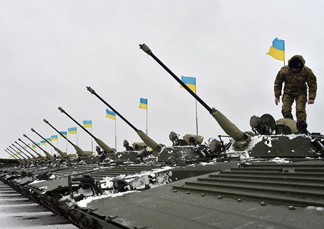Ejercicios militares en Ucrania