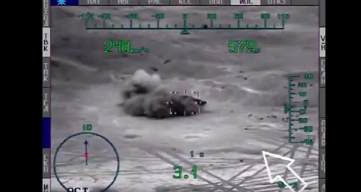 Ataques de los helicópteros rusos Mi-28 contra yihadistas