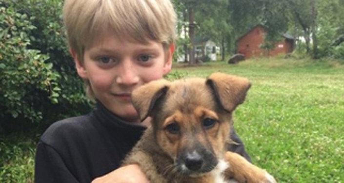 Iván Kurenniy, un niño que salvó a un perro del fuego