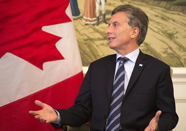 Mauricio Macri, presidente de Argentina, durante el encuentro con el primer ministro de Canadá, Justin Trudeau