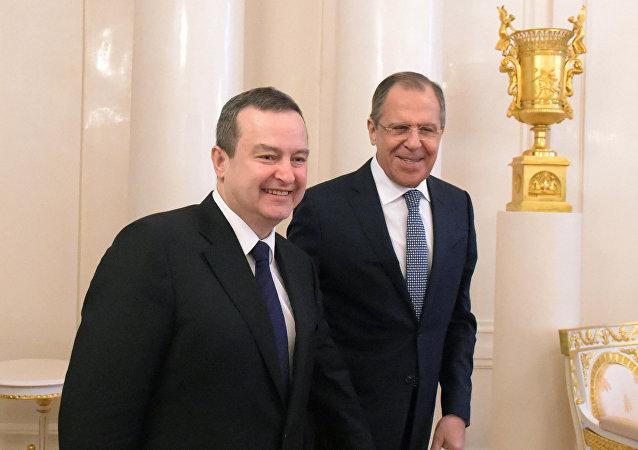 Ivica Dacic y Serguéi Lavrov