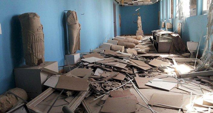 El museo de Palmira, saqueado durante la ocupación de la ciudad por los terroristas