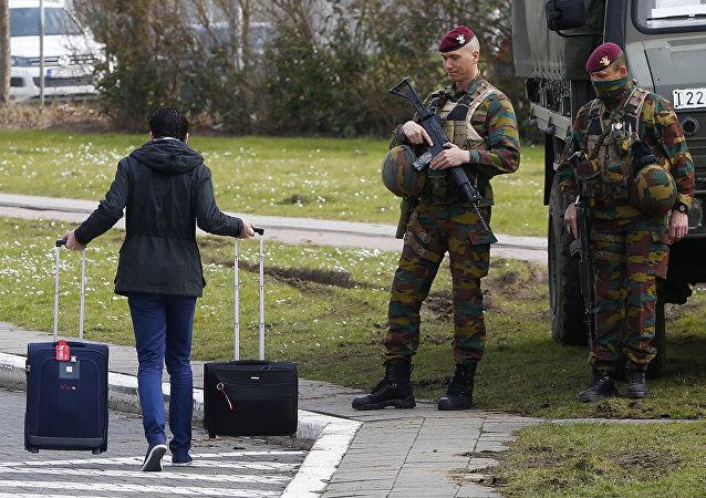 Control del aeropuerto internacional de Bruselas