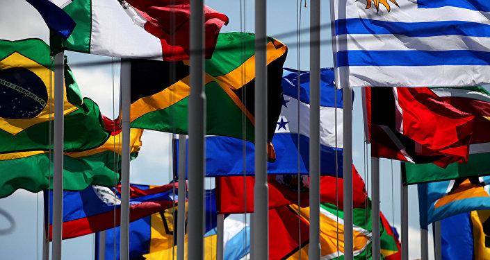 Banderas de países miembros de Celac