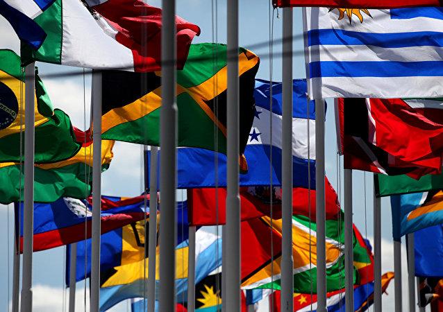 Banderas de países miembros de la CELAC (archivo)