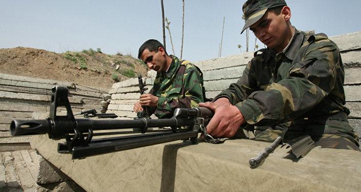 Soldados del Ejército de Nagarno Karabaj (Archivo)