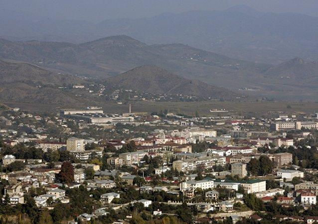 La ciudad de Stepanakert, Nagorno Karabaj