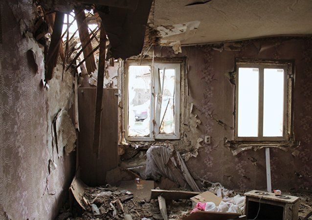 Edificios destruidos en Donbás