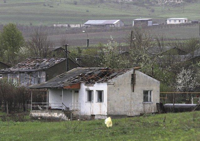 Edificios en Nagorno Karabaj