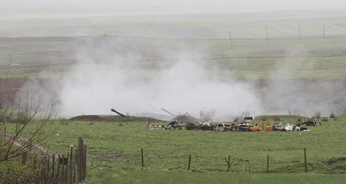 Unidades de artillería armenias en Nagorno Karabaj