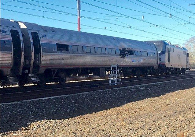 Tren accidentado de la compañía Amtrak