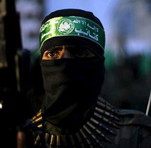 Militante del movimiento Hamás