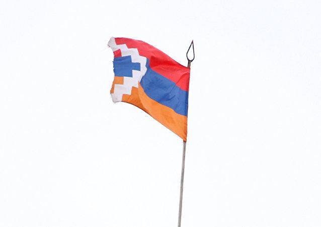 La bandera de Nagorno Karabaj