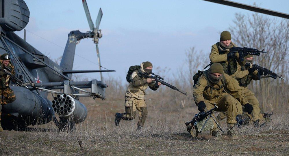 Militares rusos duarante los ejercicios en la región de Stávropol