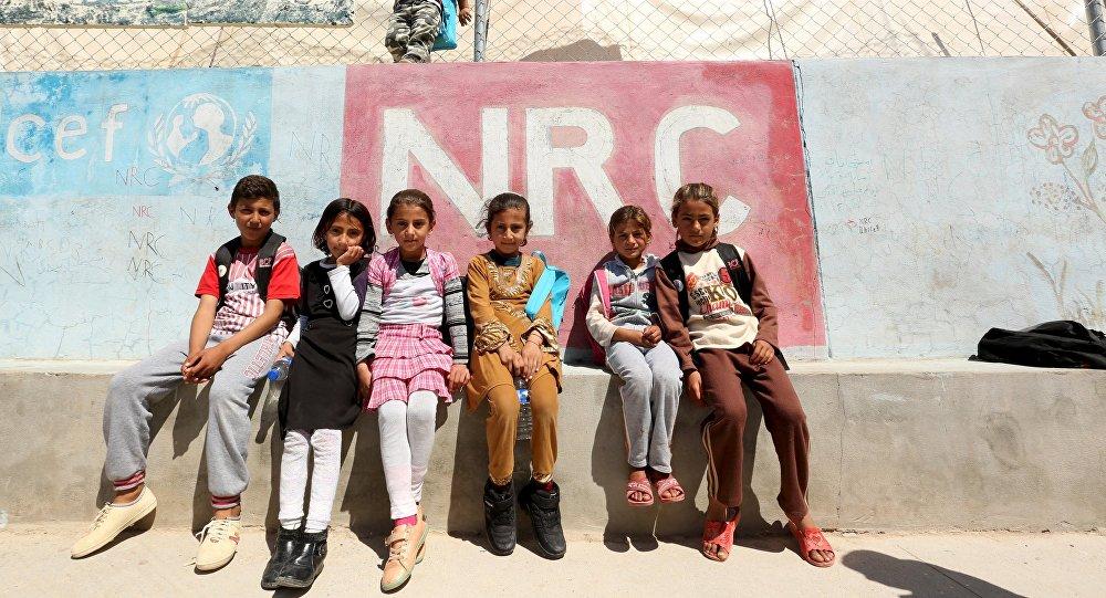 Los niños yazidíes de Sinjar en un campo de refugiados en Irak
