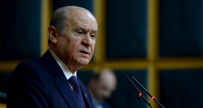 Devlet Bahceli, líder del Partido de Acción Nacionalista (MHP) de Turquía