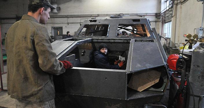 La producción de los autos blindados Dozor-B en la fábrica de Leópolis