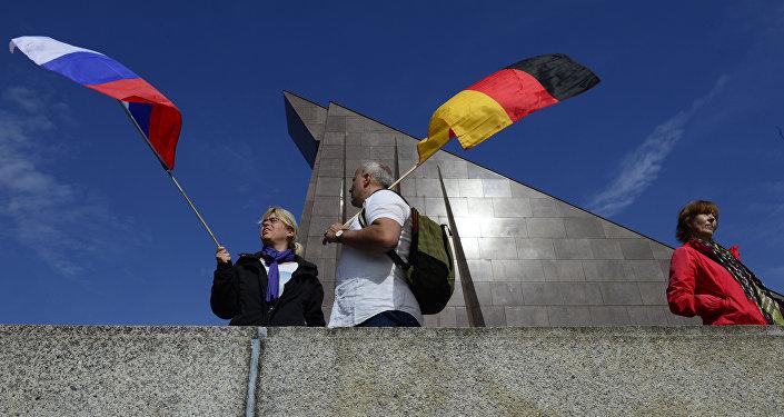 Banderas de Rusia y Alemania