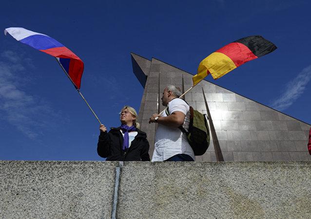 las banderas de Rusia y Alemania