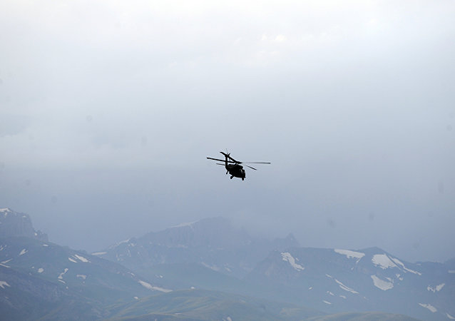 Un helicóptero turco (archivo)