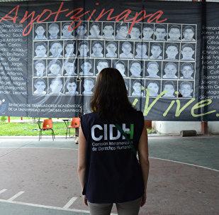 CIDH visita Ayotzinapa (archivo)