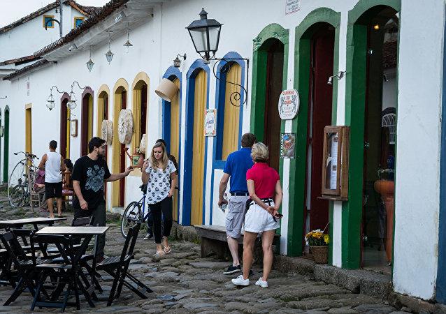 Turistas en Río de Janeiro