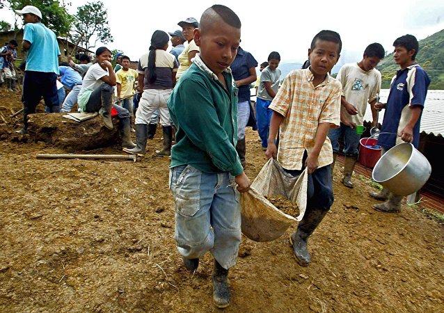 Obras de restauración en la municipalidad colombiana en Tacueyo