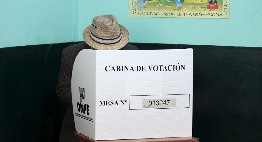 Concluye horario de votación en Perú
