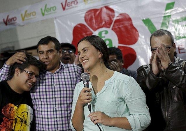 Verónika Mendoza, candidata presidencial peruana (archivo)