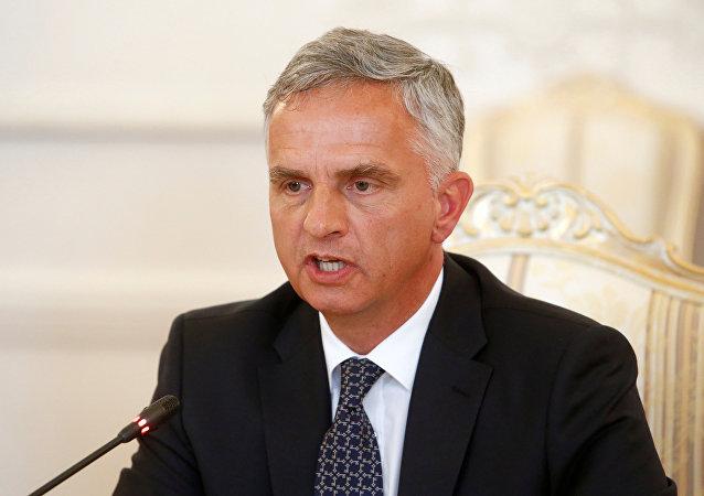 Didier Burkhalter, ministro de Exteriores de Suiza