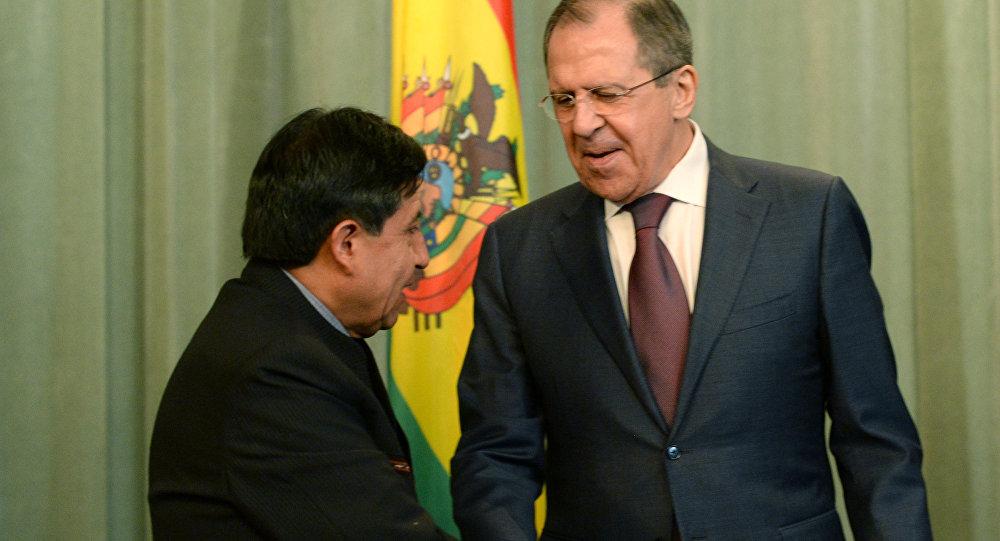 Canciller de Bolivia, David Choquehuanca y canciller de Rusia, Serguéi Lavrov