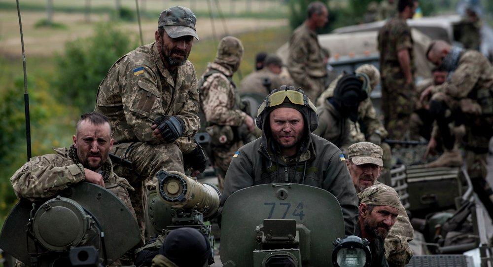 Los soldados ucranianos