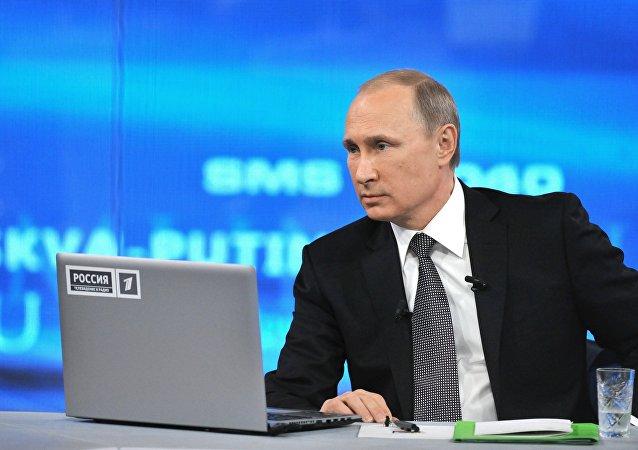 Línea directa con el presidente ruso Vladímir Putin