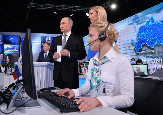 Línea directa con Vladímir Putin, presidente de Rusia