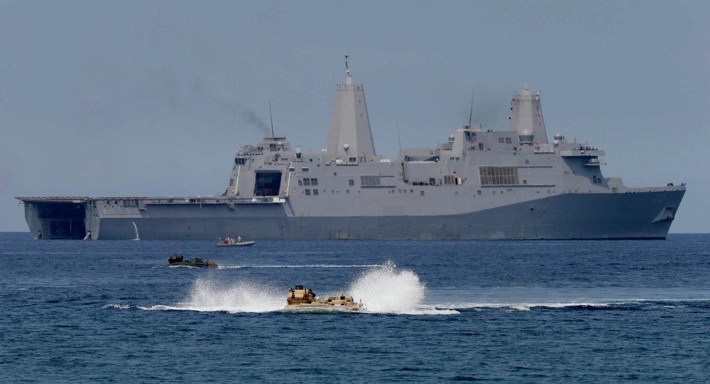 Maniobras conjuntas de EEUU y Filipinas en el Mar de la China Meridional (archivo)