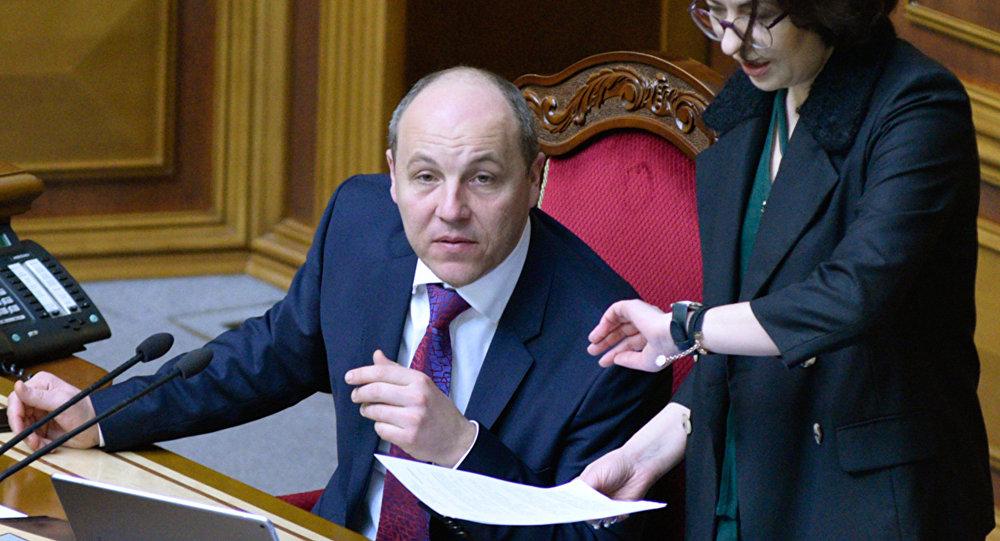 Andréi Parubi, presidente del Parlamento ucraniano