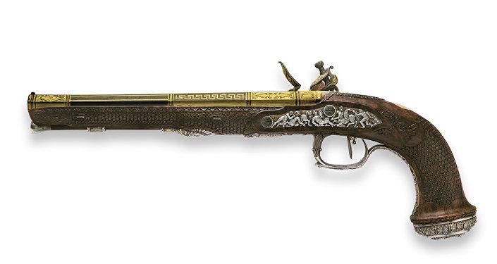 Una de las pistolas del libertador Simón Bolívar