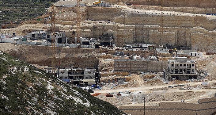 Construcción de asentamientos israelíes en Cisjordania (archivo)
