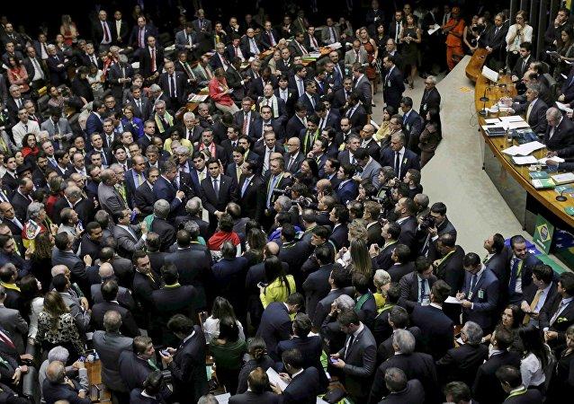 Cámara de Diputados en el Congreso de Brasilia, Brasil (archivo)