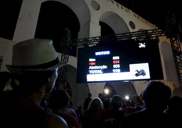 Votación en la Cámara de los Diputados de Brasil