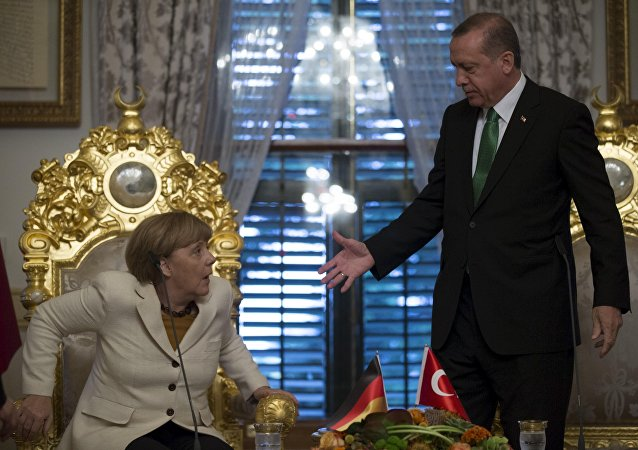 Angela Merkel, canciller alemana, y Recep Tayyip Erdogan, presidente turco