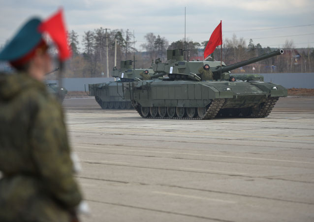 Tanques T-14 Armata (imagen referencial)