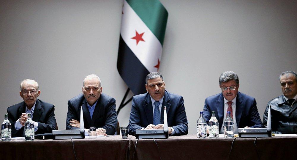 Miembros del Alto Comité de Negociaciones en Ginebra (archivo)