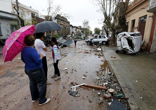 Consecuencias de un desastre natural, Uruguay (archivo)