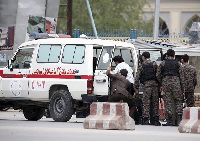 Una ambulancia afgana (archivo)