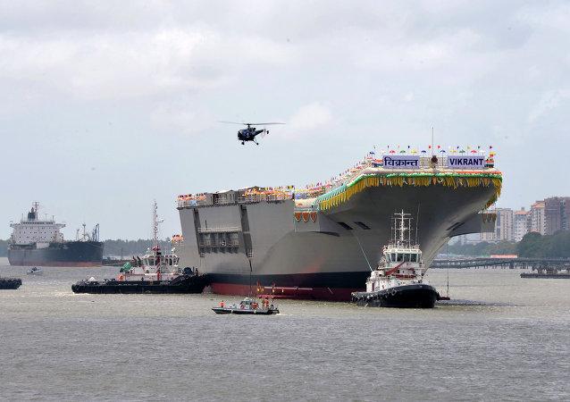 Portaviones Vikrant de la Armada India (Archivo)
